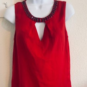 Red Jeweled Blouse